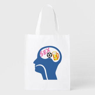 Male Psyche Grocery Bag
