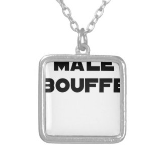 MALE PUFFS OUT - Word games - François Ville Silver Plated Necklace