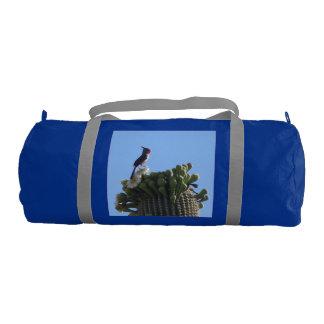 Male Pyrrhuloxia on Saguaro Cactus Blooms Gym Bag
