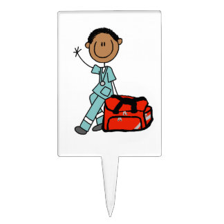 Male Respiratory Therapist or EMT Rectangular Cake Toppers
