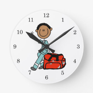 Male Respiratory Therapist or EMT Wall Clock