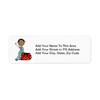 Male Respiratory Therapist or EMT Label