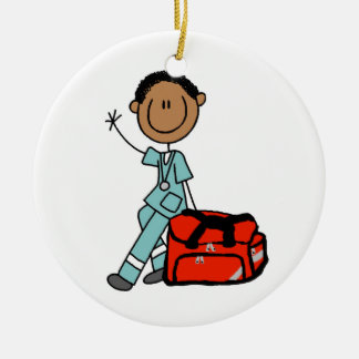 Male Respiratory Therapist or EMT Christmas Ornament