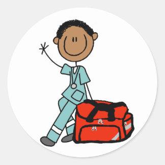 Male Respiratory Therapist or EMT Round Sticker
