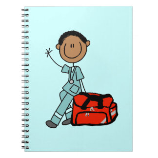 Male Respiratory Therapist or EMT Spiral Note Book