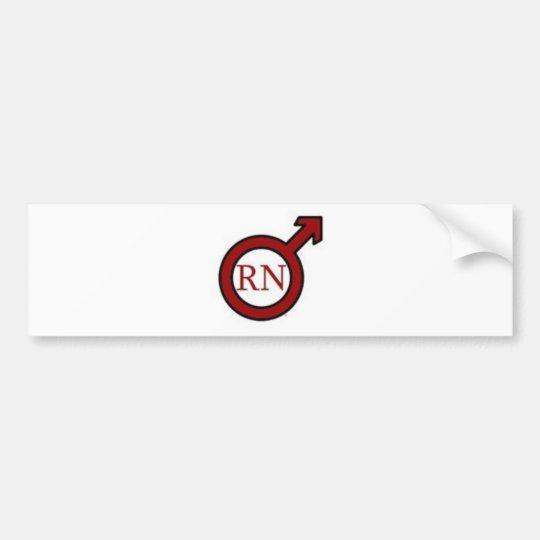 Male RN Bumper Sticker