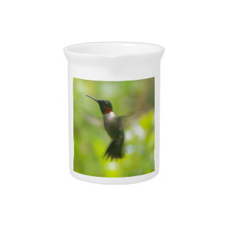 Male Ruby Throat Hummingbird Drink Pitcher