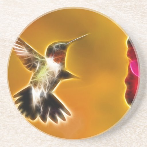Male Ruby-throated Hummingbird Beverage Coaster