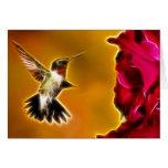 Male Ruby-throated Hummingbird Card