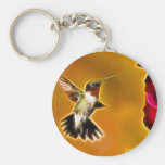 Male Ruby-throated Hummingbird Keychain