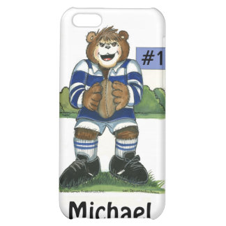 Male Rugby Bear in Blue Cover For iPhone 5C