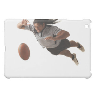 Male rugby player diving for ball iPad mini cases