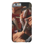 Male rugby players in scrum, rear view barely there iPhone 6 case