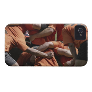 Male rugby players in scrum, rear view Case-Mate iPhone 4 case