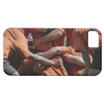 Male rugby players in scrum, rear view iPhone SE/5/5s case