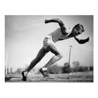 Male Runner Postcard