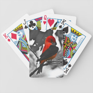 Male Scarlet Tanager Bicycle Playing Cards