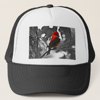 Male Scarlet Tanager Trucker Hat