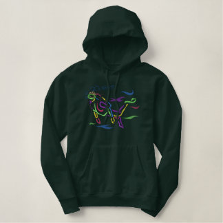 Male Scuba Diver Outline Embroidered Hoodie