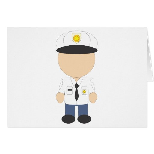 Male Security Guard Greeting Card