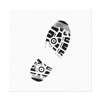 Male shoe print stretched canvas prints