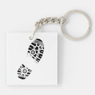 Male shoe print keychain