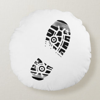 Male shoe print round pillow