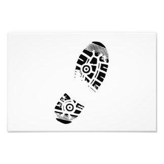 Male shoe print photo print