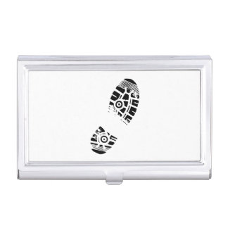 Male shoe print business card holders