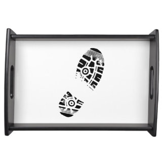 Male shoe print serving trays