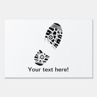 Male shoe print sign