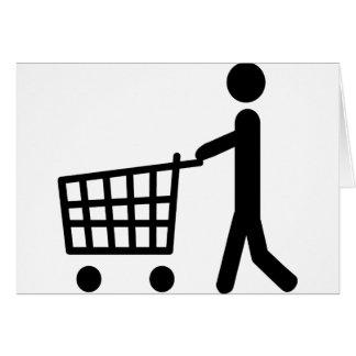 male shopping logo greeting card