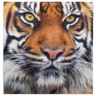 Male Siberian Tiger Paint Photograph Cloth Napkin