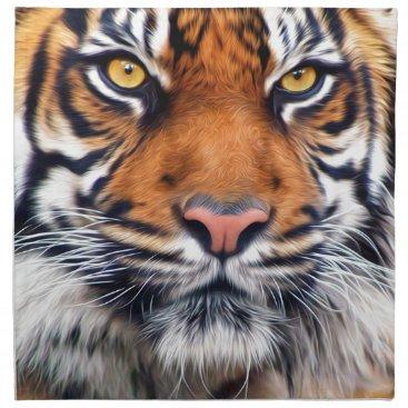 ironydesignphotos Male Siberian Tiger Paint Photograph Cloth Napkin