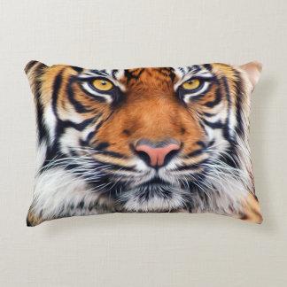 Male Siberian Tiger Paint Photograph Decorative Pillow