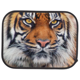 Male Siberian Tiger Paint Photograph Floor Mat
