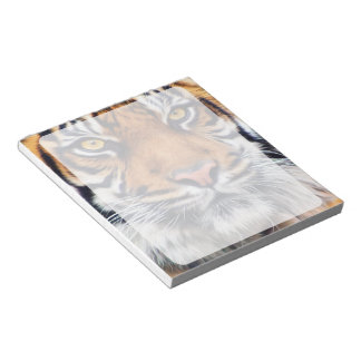 Male Siberian Tiger Paint Photograph Memo Notepads