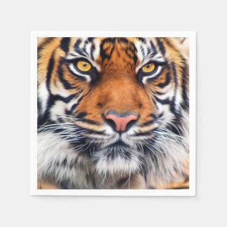 Male Siberian Tiger Paint Photograph Paper Napkin