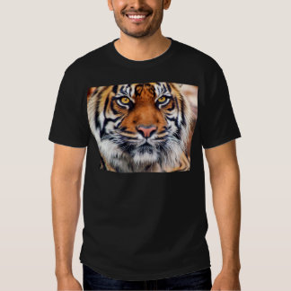 Male Siberian Tiger Paint Photograph Shirts