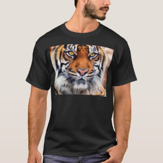 Male Siberian Tiger Paint Photograph T-Shirt