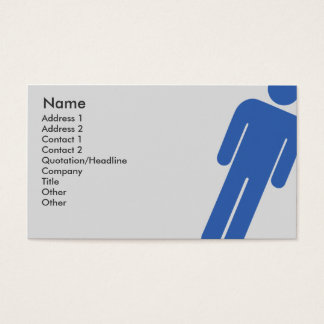 Male Sign - Business Business Card