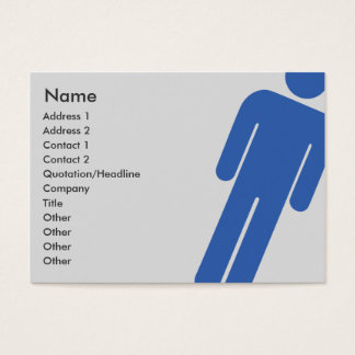 Male Sign - Chubby Business Card
