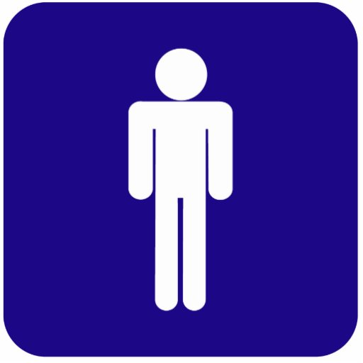 Male Sign Cut Outs Zazzle