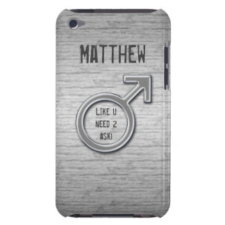 Male Sign/Faux Metal+Name Case-Mate iPod Touch Case