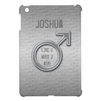 Male Sign/Faux Metal+Name iPad Mini Cases