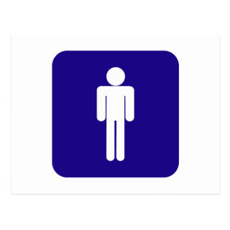 Male Sign Postcard
