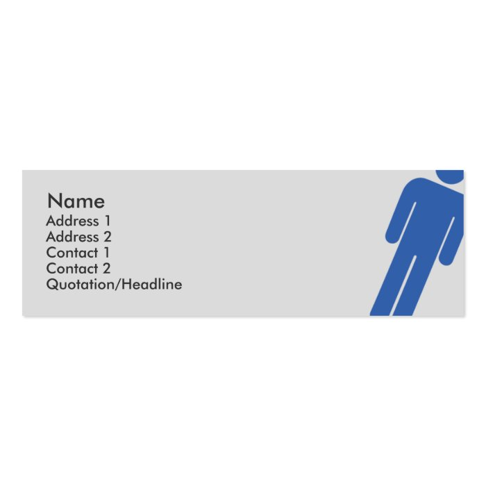 Male Sign - Skinny Mini Business Card