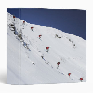 Male Skier 3 Ring Binder