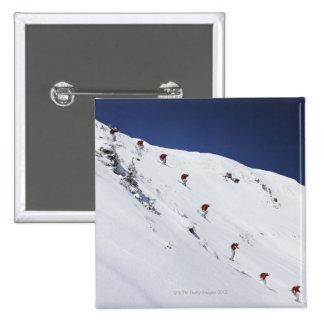Male Skier 2 Inch Square Button