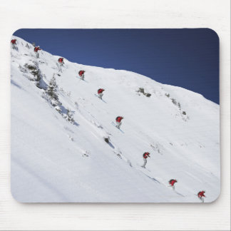Male Skier Mouse Pad